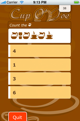 Screenshot Cup O' Joe Lite