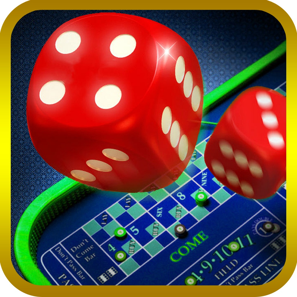 Craps - Casino Dice Game PRO, throw the dice , bets and big win coin buck